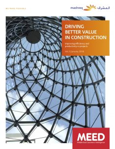Driving better value in construction report cover